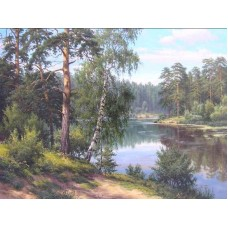 У реки живопись на холсте 40х50см 40х50 Paintboy GX7799