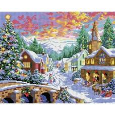 Рождественская ночь Мозаика на подрамнике 40х50 40х50 Белоснежка 303-ST-S
