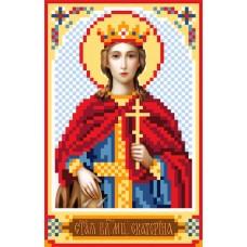 Святая Екатерина Рисунок на шелке 22/25 22х25 (9х14) Матренин Посад 3038