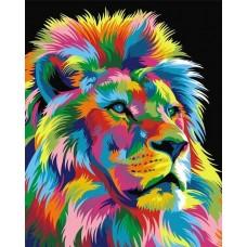 Радужный король лев живопись на холсте 40х50см 40х50 Paintboy GX9053