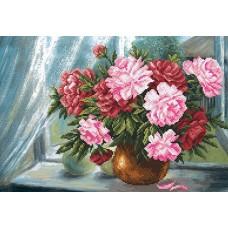 Цветы радости Набор для вышивания бисером 37х49 (27х39) Матренин Посад 0004/Б
