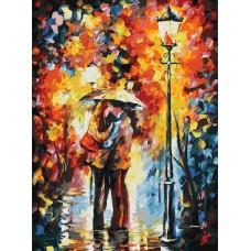 Поцелуй под дождем живопись на картоне 30*40см 30х40 Белоснежка 3015-CS