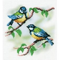 Синички-подружки Рисунок на канве 30х21см 15х16(30х21) МП-Студия СК-027
