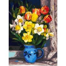 Тюльпаны  живопись на холсте 30*40см 30х40 Белоснежка 229-AS