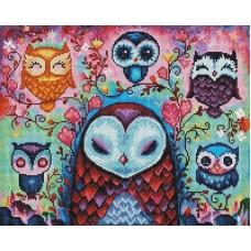 Сказочные совы мозаика на подрамнике 40х50 40х50 Painting Diamond GF3846