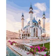 Весенняя мечеть живопись на холсте 40х50см