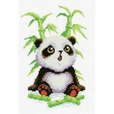 Малыш-панда Рисунок на канве 30х21см 20х13(30х21) МП-Студия СК-010