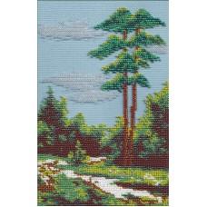 Летний полдень  набор для  вышивания бисером 14х20 МП-Студия БК-034