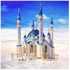 Мечеть Кул-Шериф в Казани Канва с нанесенным фоном 41/41 41х41 (30х35) Матренин Посад 1798