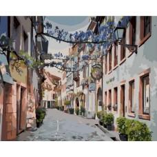 Узкая улочка живопись на холсте 40х50см