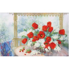 Набор Тюльпаны с черёмухой 26х39,5 Золотое руно РТ-160