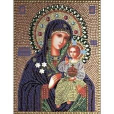 Богородица Неувядаемый цвет набор для выкладывания стразами 28х22 Преобрана 59