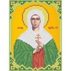 Набор Святая Дарья бисер 12,2х18,5 Каролинка КБИН(Ч) 5060