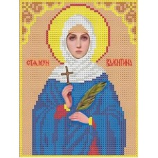 Набор Святая Валентина бисер 12,8х16,8 Каролинка КБИН(Ч) 5021