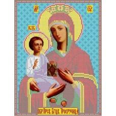 Богородица Троеручница Рисунок на ткани 19х25,5 Каролинка ТКБИ 4020