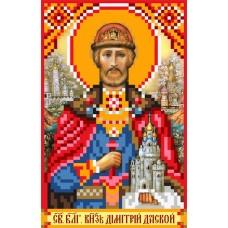 Святой Князь Дмитрий Донской Рисунок на шелке 22/25 22х25 (9х14) Матренин Посад 3024