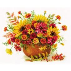 Набор Осенние цветы  вышивка