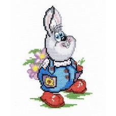 Заяц с цветами   набор 20х16 МП-Студия НВ-197