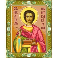 Святой Пантелеймон Набор для вышивания бисером 28х34 (22х28) Матренин Посад 3003/БГ