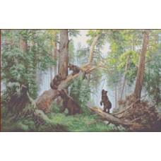 Утро в сосновом лесу Рисунок на ткани 32,5х54 Каролинка ТКБП 2004