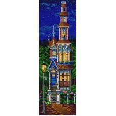 Сказочный домик (рис. на сатене 25х65) 25х65 Конек 9816
