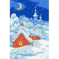 Морозный сочельник Рисунок на канве 30х21см 21х14(30х21) МП-Студия СК-046