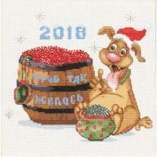 Набор Год собаки 2018 20,5х18 Золотое руно МТ-020