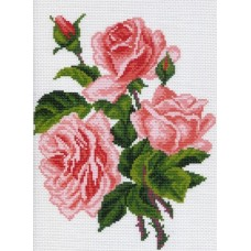 Розовые розы Рисунок на канве 28/37 28х37 (19х24) Матренин Посад 0560-1