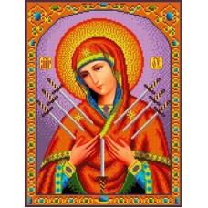 Набор Богородица Семистрельная бисер 27х35,5 Каролинка КБИН(Ч) 3018/1