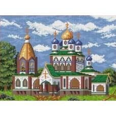 Церковь Рисунок на ткани 35х27 Каролинка ТКБП 3012