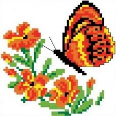 Набор Бабочка канва с рисунком 10х10 Каролинка КТКН 009 (Р)