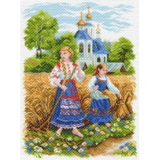 Сенокос Рисунок на канве 37/49 37х49 (29х39) Матренин Посад 1566