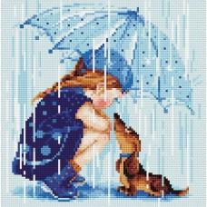 Дождик набор для выкладывания стразами 27х27 Риолис АМ0023