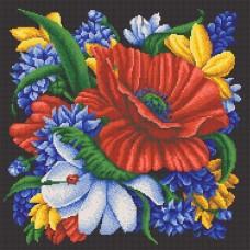 Цветы рисунок на канве 40/40 40х40 Конек 7808
