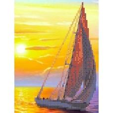 Набор Парус на закате канва с рисунком 21х30 Каролинка КТКН 117 (Р)