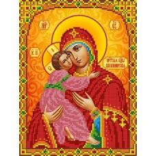 Набор Богородица Владимирская бисер 12,5х16 Каролинка КБИН(Ч) 5078