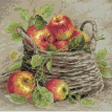 Спелые яблоки набор для выкладывания стразами 27х27 Риолис АМ0015