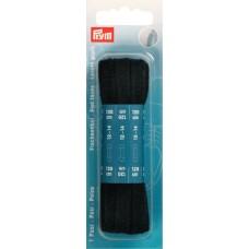 Плоские шнурки для ботинок 8 x 1200 мм черный цв. 974730