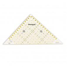 611314 Проворный треугольник с сантиметровой шкалой, для1/2квадрата до 15см, 1шт