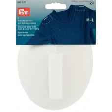 Накладки плечевые реглан с липучкой, размерM-L, 115*150*11мм, белый, 100%полиамид, 2шт на бл 993835