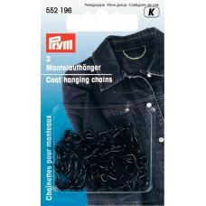 552196 Петля-вешалка д/пальто черная, 3шт