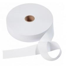 Эластичная лента-мягкая(резинка), 50м, 60мм, белая, 76%пол, 24%эл, руллон 955609