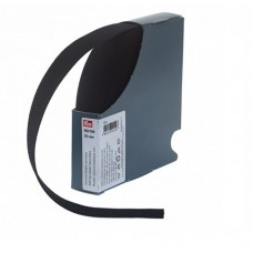 Эластичная лента-велюр(резинка), 10м, 25мм, черная, 64%полиэ, 14%палиам, 22%эл, кассета 953159