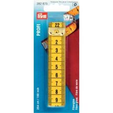 Измерительная лента с сантиметровой и дюймовой шкалой, Профи, стекловолокно, 0,5*20*254см 282675