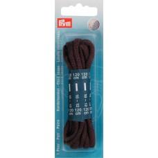 Толстые круглые шнурки 5мм 120см хлопок, коричневый цв., 2 шт. 974901
