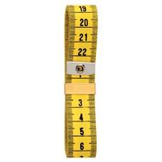 282671 Измерительная лента с сантиметровой шкалой, стекловолокно, 0, 4*20*150см, желтый/желтый, 1шт