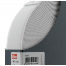 Эластичная лента-велюр(резинка), 10м, 30мм, белая, 64%полиэ, 14%палиам, 22%эл, кассета 953185
