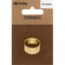 Наперсток Кольцо, диаметр 16,5мм, сталь, золотистый, Tulip, SN-005e