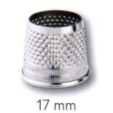 431313 Наперсток, 17мм, серебристый, без донышка, сталь, без упаковки