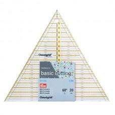 611656 Линейка Omnigrid для пэчворка треугольник 60°, сторона 20см, Prym